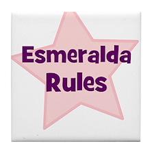 Esmeralda Rules Tile Coaster