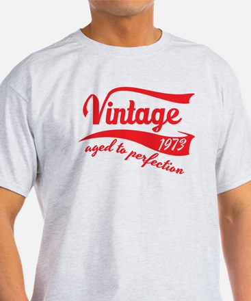 Vintage 1973 aged to perfection 40th birthday T-Sh