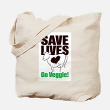 Veggie Cow Tote Bag