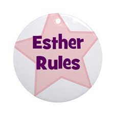 Esther Rules Ornament (Round)