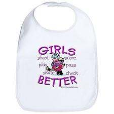 Girls Are Better Bib