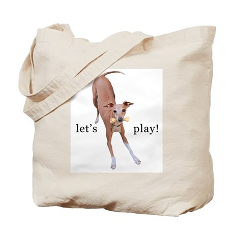 Italian Greyhound Let's Play! Tote Bag