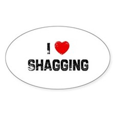 I * Shagging Oval Decal