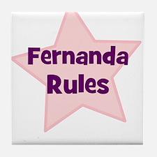 Fernanda Rules Tile Coaster
