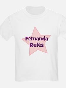 Fernanda Rules Kids T-Shirt