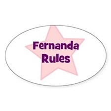 Fernanda Rules Oval Decal