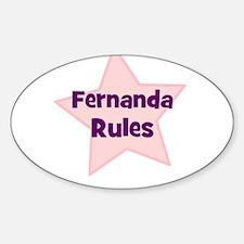 Fernanda Rules Oval Decal