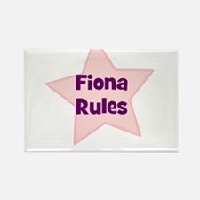 Fiona Rules Rectangle Magnet
