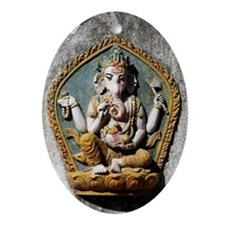 Ganesha Lord of Success Ornament (Oval)