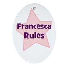 Francesca Rules Oval Ornament