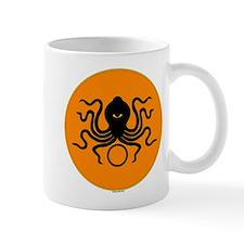 Black-on-orange Octopus Mug