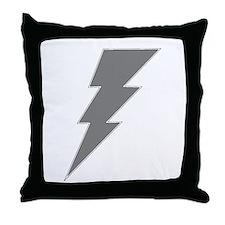 The Lightning Grey Shop Throw Pillow
