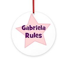 Gabriela Rules Ornament (Round)