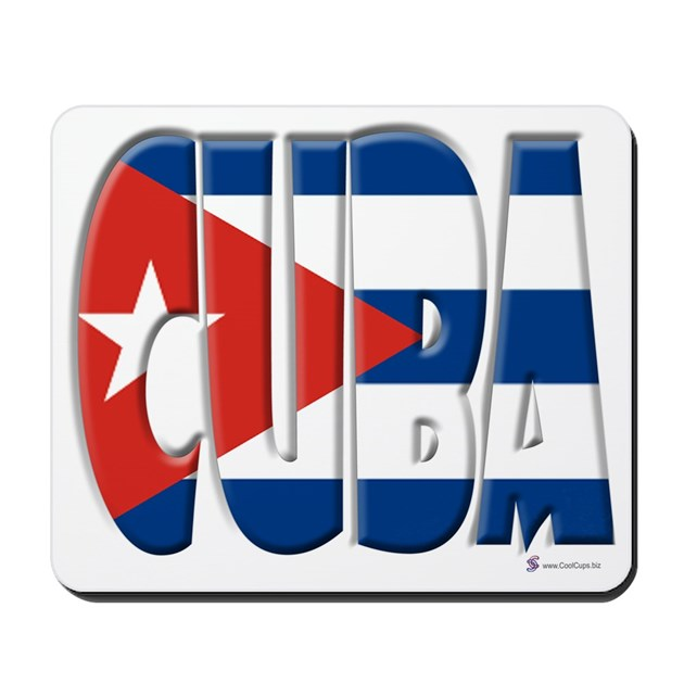 Word Art Flag Of Cuba Mousepad By Coolcups