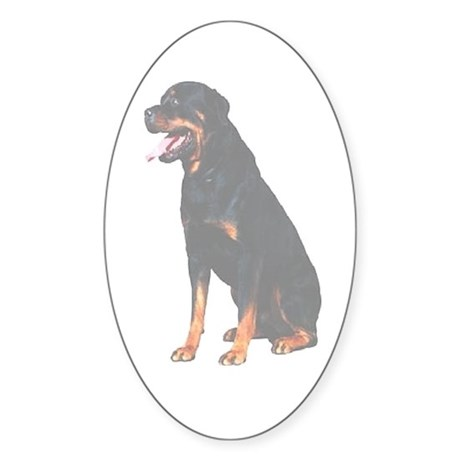 Rottweilers Oval Sticker