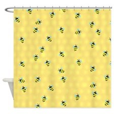 Bees Buzzing Shower Curtain