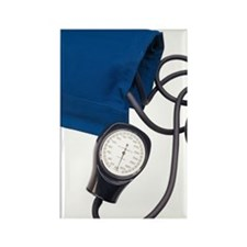 Blood pressure cuff with gauge Rectangle Magnet