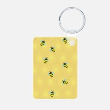 Bees Buzzing (j) Keychains