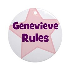 Genevieve Rules Ornament (Round)