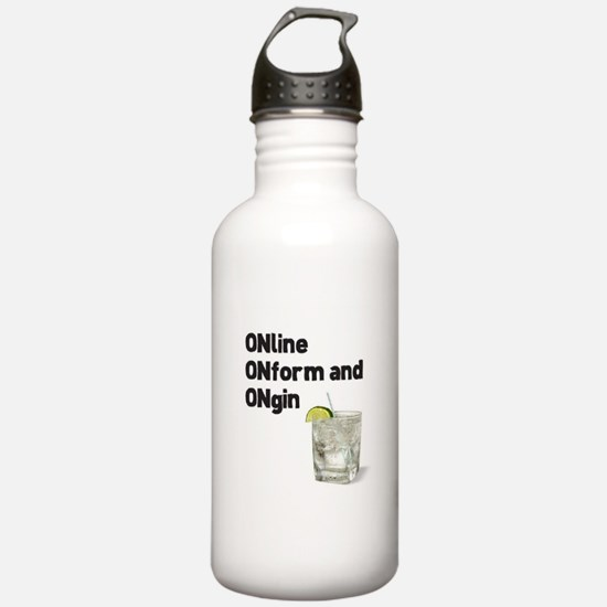 Online and On Gin Water Bottle