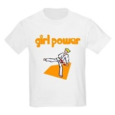 Girl Power Martial Arts Kids T-Shirt