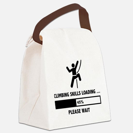 Climbing Skills Loading Canvas Lunch Bag