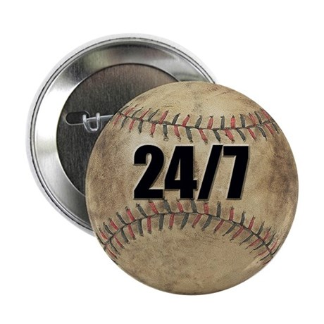 "Baseball Nuts 2.25"" Button (100 pack)"