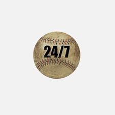 Baseball Nuts Mini Button (10 pack)