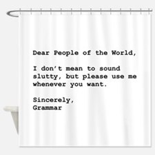 Use Grammar Shower Curtain