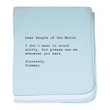 Use Grammar baby blanket