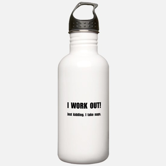 Work Out Naps Water Bottle