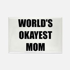 Worlds Okayest Mom Rectangle Magnet (10 pack)