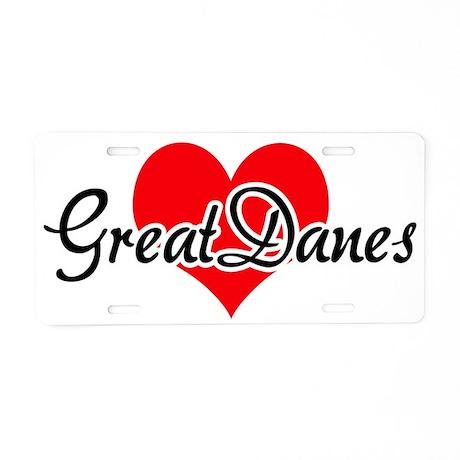 Great Dane - Harlequin Aluminum License Plate