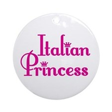 Italian Princess Ornament (Round)