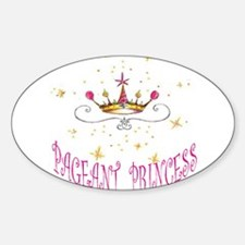 PAGEANT PRINCESS Oval Decal