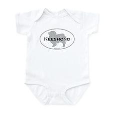 Keeshond Infant Bodysuit