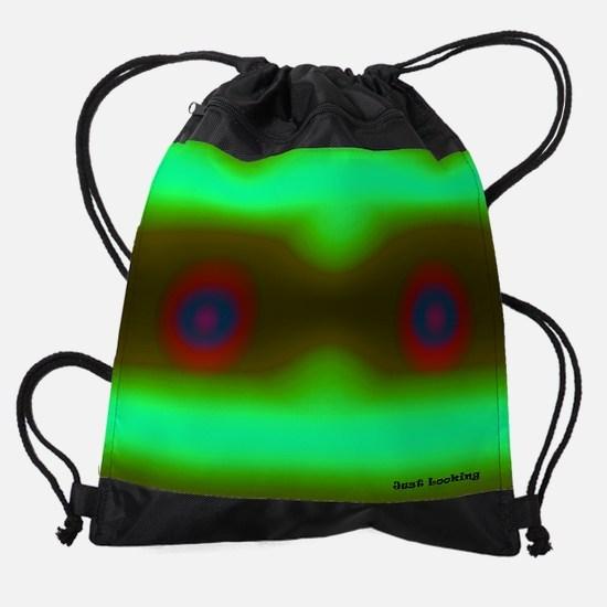 Just Looking with logo 11.5 9 200 1 Drawstring Bag