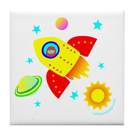Little Adventurer in Space! Tile Coaster