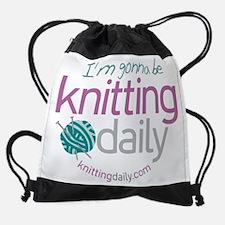 Unique Knitting daily Drawstring Bag