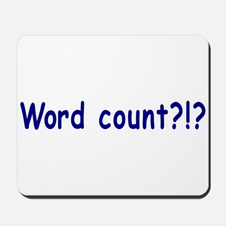 Writing Word Count Mousepad