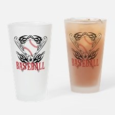 Baseball Tribal Drinking Glass