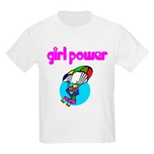 Girl Power Skydiving Kids T-Shirt