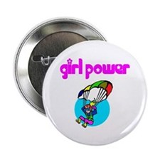 Girl Power Skydiving Button