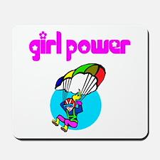Girl Power Skydiving Mousepad