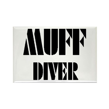 Muff Diver #3a & #3b Rectangle Magnet (10 pack)