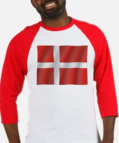 Pure Flag of Denmark Baseball Jersey