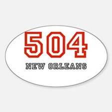 504 Oval Decal