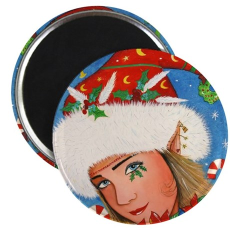 "Candy Cane Elf 2.25"" Magnet (100 pack)"