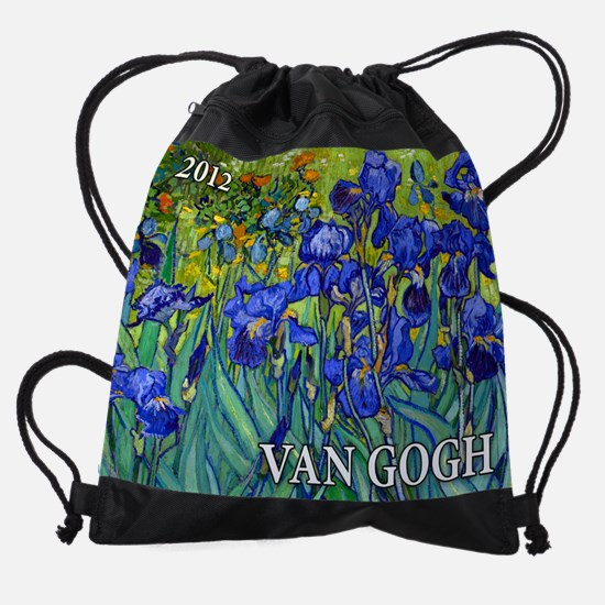 Cal Cover VG Irises Drawstring Bag