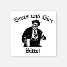 Brats und Bier Rectangle Sticker